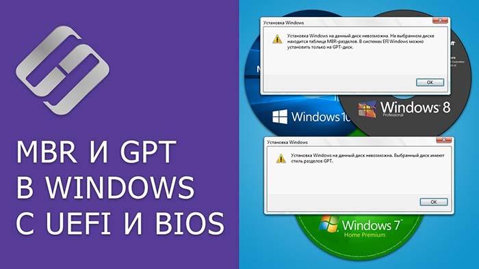 Установка Windows 7 на GPT-диск