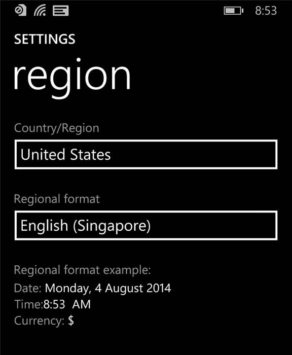Смена региона в телефоне для устранения ошибкиc00cee2d