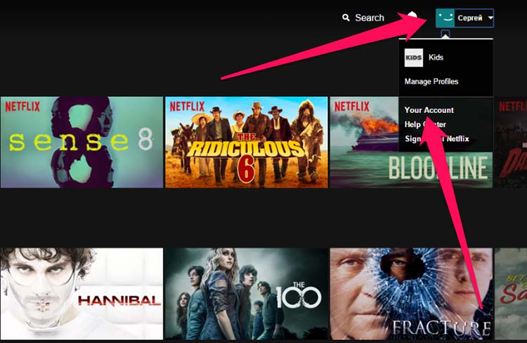 Настройка приложения Netflix
